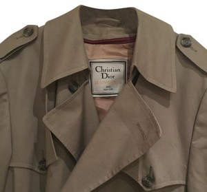 Dior Vintage Trench Lined Classic Wool Trench Coat