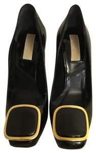 Michael Kors Black with Gold trim on buckle Pumps