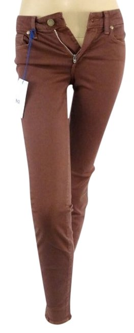 Item - Brown Hoxton Ultra High Rise Skinny Jeans Size 24 (0, XS)
