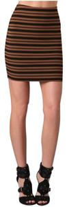 Torn by Ronny Kobo Mini Skirt Brown