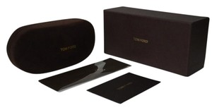 Tom Ford New Authentic Tom Ford Faux Suede Brown hard Sunglasses CASE+BOX+CLEANING CLOTH