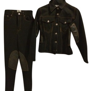 Jean-Paul Gaultier JEAN PAUL GAULTIER JEANS - PANT SUIT with LEATHER Size S