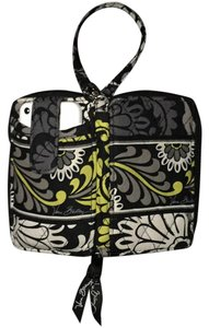 Vera Bradley Wristlet in Black, Ivory & Green