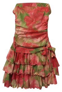 Byer Too short dress Flower Orange color on Tradesy
