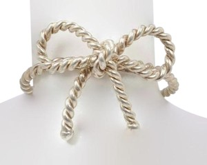 Tiffany & Co. Tiffany and Company, size 4.75, .925 sterling silver, braided, bow, fashion, designer ring