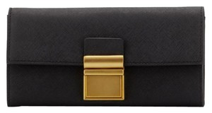 Badgley Mischka Alice Saffiano Leather Wallet, Black