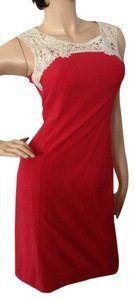 Kay Unger short dress Coral Red on Tradesy