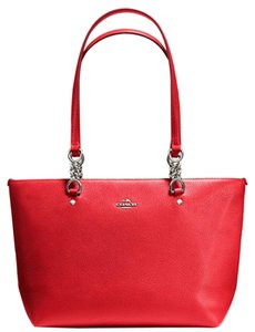 Coach 34340 Tote Satchel in Red