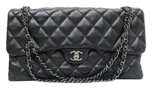 Chanel Cf Maxi Flap Lambskin Shoulder Bag