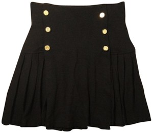 Morgan de Toi Pleated Mini Skirt Black