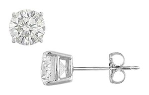 LoveBrightJewelry 925 Sterling Silver Stud Earrings of AAA Quality CZ Brilliant Cut of 2 Carat Total Gem Weight