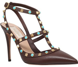 Valentino Leather Studded Dark brown 38.5(EU) NWT Pumps