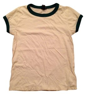 Forever 21 T Shirt Cream & Green