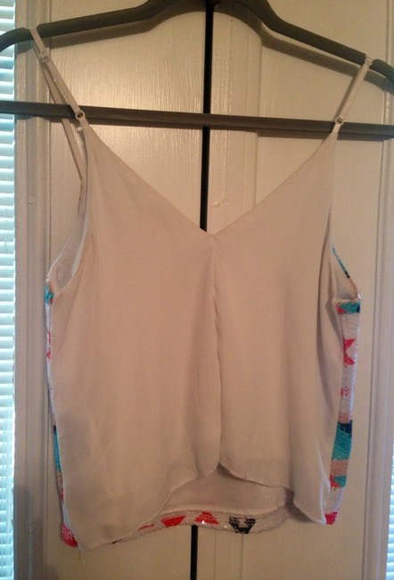 Charlotte Russe Top White/Sequin