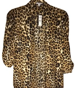 f4ed4203a5f Express Leopard The Portofino Shirt Button-down Top Size 8 (M) - Tradesy