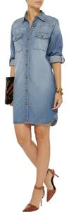 Current/Elliott short dress BLUE Denim on Tradesy