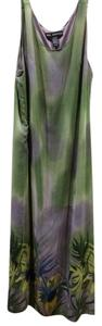 green multi Maxi Dress by Mlle Gabrielle