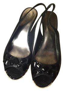 Alfani Black- Straw Wedges