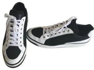 Prada Black and white fashion sneakers Flats
