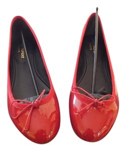 Saint Laurent Red Flats