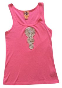 Tory burch tank w/beads authentic Top Pink