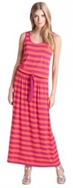 Preload https://item5.tradesy.com/images/michael-kors-orange-and-deep-pinkred-cabana-yarn-dye-stripe-long-casual-maxi-dress-size-14-l-166504-0-0.jpg?width=400&height=650