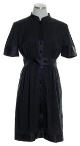 Catherine Malandrino short dress Black Buttondown Short Sleeve on Tradesy