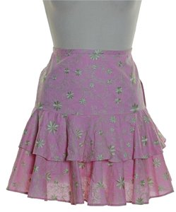 Lilly Pulitzer Embroidered Tiered Mini Skirt Pink