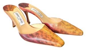 Jimmy Choo Leather Women's Snake Multi Colored Mules