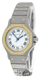 Cartier Ladies Cartier Santos Octagon 18K Gold & Stainless Steel Watch