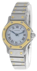 Cartier Mint Ladies Cartier Santos Octagon 18K Gold & Stainless Steel Automatic Watch