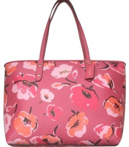 Coach Tote in Wildflower Floral Pink Multicolor