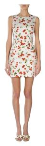 Dolce&Gabbana short dress white with cherry pattern on Tradesy