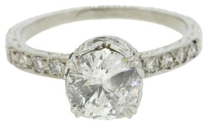 1920s Antique Art Deco Platinum 1.00ct Diamond Halo Engagement Ring