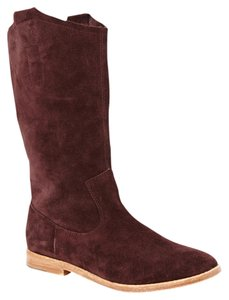 Joie Maroon Slouch Oxblood Boots
