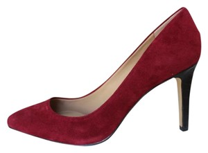 Ann Taylor Suede Crocodile Burgandy New Siren Pumps
