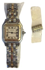 Cartier Panthere 18K Yellow Gold Two Tone Stainless Steele Ladies Watch