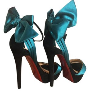 Christian Louboutin Vampanodo black, Green Platforms