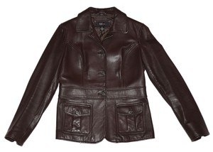 Style & Co Leather brown Leather Jacket