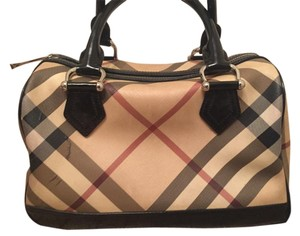 Burberry Bowling Vintage Satchel in Nova Check