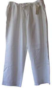 Charter Club Relaxed Pants White