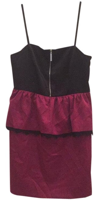 Preload https://img-static.tradesy.com/item/16652914/kensie-black-and-burgundy-above-knee-night-out-dress-size-8-m-0-1-650-650.jpg
