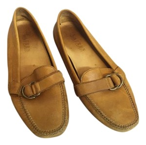 Ralph Lauren Couture Driving Loafers Moccasins Brown Leather Flats