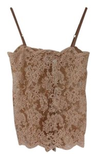 Yigal Azrouël Lace Lace Intimate Lace Top Nude