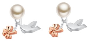 Left Right Accessory NEW 925 Silver Freshwater Pearl Single Earring - Dove