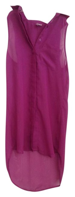Item - Purple Sheer Button-down Top Size 2 (XS)