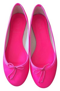 J.Crew Leather Neon Pink Flats