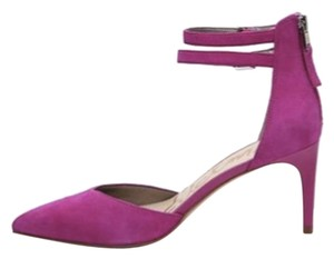 Sam Edelman Suede Pointed Toe Ankle Strap Fushia/Pink Pumps
