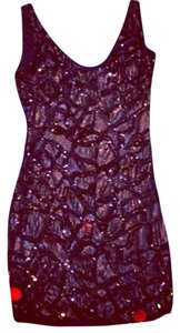 bebe Sequins Sparkle Glitter Hot Glam Chic Party Holiday Reception Bachlorette Luxury Sexy Mini Evening Dress