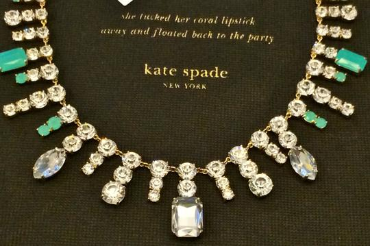 Kate Spade NWT Kate Spade Opening Night Necklace MSRP$228 12K Gold Glass Crystals